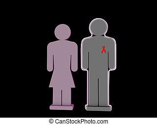 hiv positive silhouette