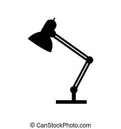 hivatal, árnykép, lámpa