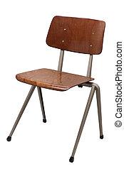hivatal, barna szék, elszigetelt, white