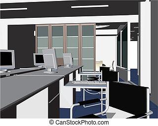 hivatal belső, lakás