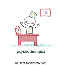 hivatal, dolgozó, övé, psychotherapist