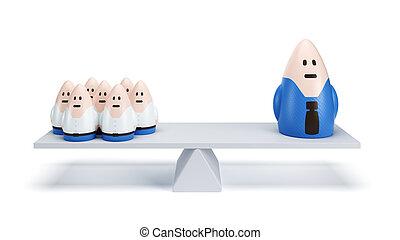 hivatal emberek, differentiation
