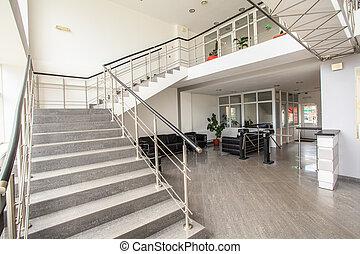 hivatal, lépcsőház