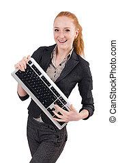 hivatal munkás, elszigetelt, fiatal, női, fehér, succesful