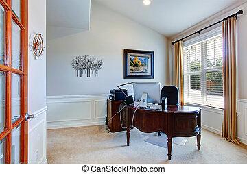 hivatal, szoba, alatt, fényűzés, épület
