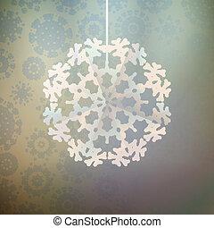 hiver, à, noël, decoration., +, eps10