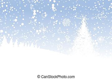 hiver, arbre, ton, vacances, noël, conception