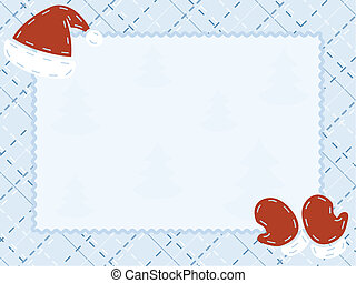 hiver, carte, matelassé
