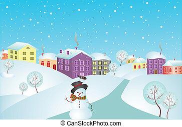 hiver, carte