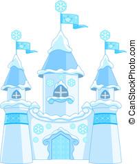 hiver, château