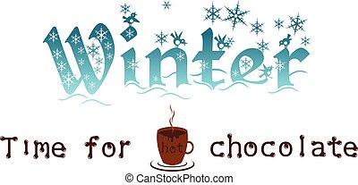 hiver, -, chocolat, chaud, temps, mieux