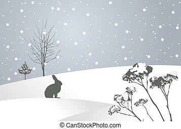 hiver, conte fées