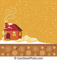 hiver, décoratif, fond