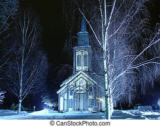 hiver, dans, norvège