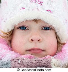 hiver, enfant