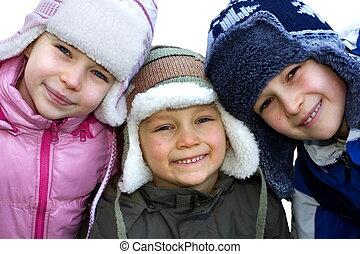 hiver, enfants