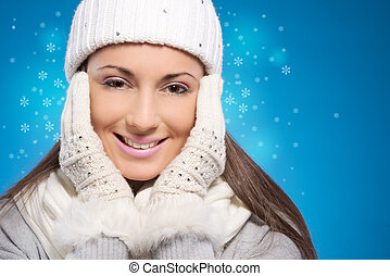 hiver, femme