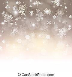 hiver, fetes, neige