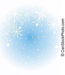 hiver, flocon de neige