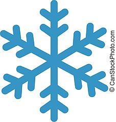 hiver, flocon de neige, icône