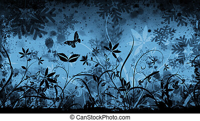 hiver, floral