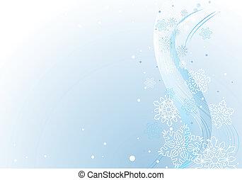 hiver, fond, à, blanc, snowfl