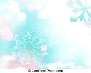 hiver, fond, Flocons neige