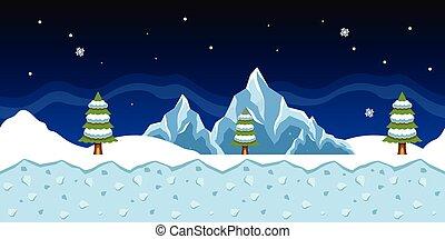 hiver, fond, jeu, vecteur