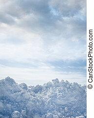hiver, fond, neige