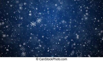 hiver, fond, noël