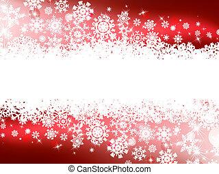 hiver, fond, rouges