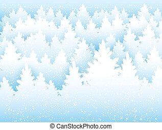 hiver, forêt, fond, noël