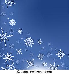 hiver, gabarit, année, nouveau, noël, carte