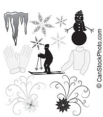 hiver, icônes