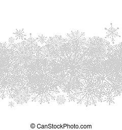 hiver, modèle, seamless, conception, ton, flocons neige