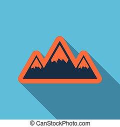 hiver, montagnes, dans, neige