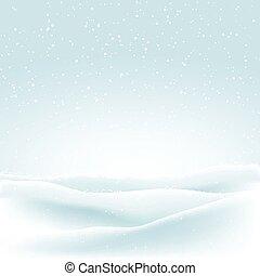 hiver, neige, fond, noël