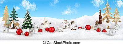 hiver, noël, arrangement