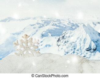 hiver, noël, arrière-plan.