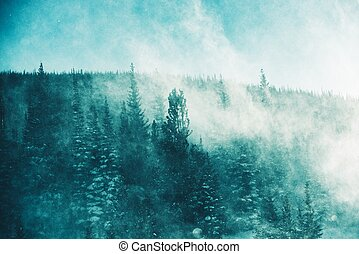 hiver, orage