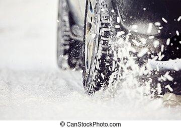 hiver, pneu
