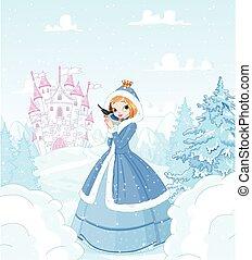 hiver, princesse