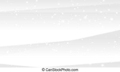 hiver, résumé, neige, animation, vidéo, noël blanc