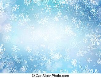 hiver, résumé, neige, arrière-plan., vacances, noël, toile de fond