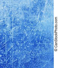 hiver, résumé, texture, glace, fond, noël