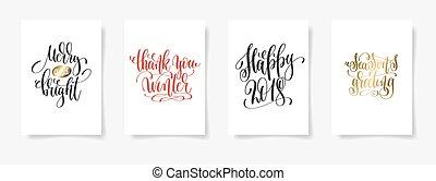 hiver, remercier, greetin, joyeux, clair, vous, heureux, 2018, season's