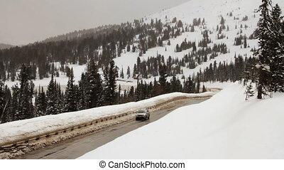 hiver, road.