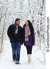 hiver, romance