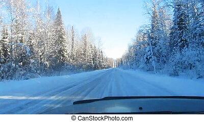 hiver, route