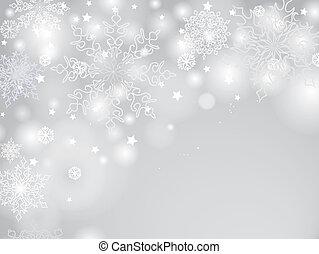 hiver, salutation, lumière, neige, conception, fond,...